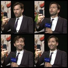 David Tennant. Lemme just see what people are saying about me on Twitter and Facebook? :D