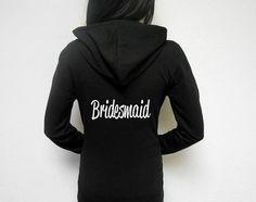 Bridesmaid Hoodie. Bride's Entourage Hoodie. by BrideBikini