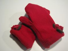 MMC0051 Hidden Polo Wool Mittens womens by MichMittensbyLauri, $23.00