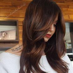 Side Fringe Hairstyles, Asymmetrical Hairstyles, Hairstyles With Bangs, Girl Hairstyles, Braided Hairstyles, Wedding Hairstyles, Hairstyle Ideas, Brunette Hairstyles, Side Fringe Long Hair