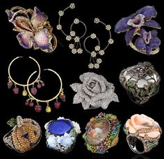 Our choice for Designer of the Month this May goes to Lydia Courteille . A French jewellery designer widely known for her quirky taste of d. Modern Jewelry, Jewelry Art, Jewelry Accessories, Lydia Courteille Jewelry, Emerald Necklace, Needful Things, Jewerly, Crochet Earrings, Bling