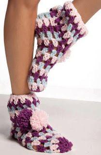 crochet socks pattern ~  NEEDLE CRAFTS