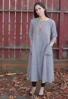 A dress to wear: Tessuti's Lily Linen Dress — Duo Fiberworks