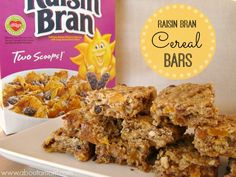 This Raisin Bran Cereal Bars recipe is great for families on the go. Also, learn how to mix things up with Cereal Freestyle from Team Kellogg& Raisin Bran Recipe, Bran Flakes Recipe, Raisin Bran Muffins, Cereal Recipes, Cookie Recipes, Snack Recipes, Dessert Recipes, Paleo Cereal, Quinoa Cereal