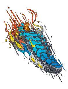 NIKE Illustrations by Raul Urias, via Behance