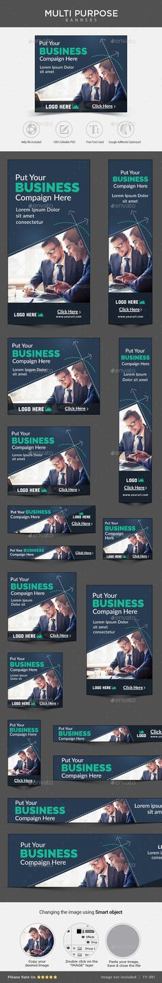 Buy Business Banners by Hyov on GraphicRiver. Promote your Products and services related to any niche with this great looking Banner Set. Vector Design, Web Design, Graphic Design, Flat Design, Pole Banners, Web Banners, Information Graphics, Banner Template, Banner Design