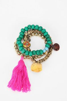 tassels and yummy color #jewelry #bracelet