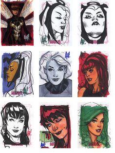 Adam Hughes Women of Marvel by stormantic, via Flickr
