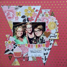 the beautiful ordinary: Scrapbook layout created with product from My Mind's Eye. Loving these triangles used for the background.