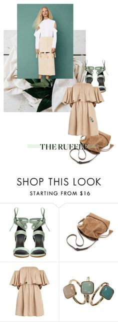 """""""postcard from far away"""" by dear-inge on Polyvore featuring TIBI, Barneys New York, Accessorize and ruffles"""