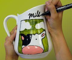 Cute milk jar, love it! #Porcelaine150 #marker