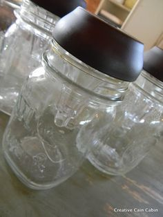 What you will need Small mouth mason jars Solar garden lights Hot glue gun I only removed the stem of the light, but you can also remove the clear plastic base that the solar light attaches to. Run a bead of hot glue around the rim of the jar and… place the light on top. […]
