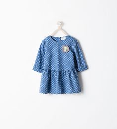 Image 1 of POLKA DOTS DRESS WITH APPLIQUÉ from Zara