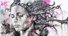 Spray paint and graffiti portraits by David Walker David Walker, Walker Art, Graffiti Artwork, Street Art Graffiti, Drugs Art, Spray Paint Art, Heart Art, Street Artists, Types Of Art