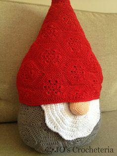 Christmas Crochet Pattern Santa Claus - Nisse the gnome by JO's Crocheteria $6,99 USD #crochet pattern #crochet christmas #african flower #half african flower #x mas #x-mas #gnome