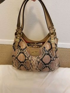 fae8c8070c6b COACH MADISON MAGGIE PYTHON LEATHER PURSE SHOULDER BAG - 19639- STUNNING   598  purses