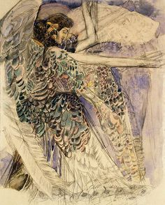 Mikhail Aleksandrovich Vrubel (Russian, 1856-1910). Seraphim. 1904-1905.