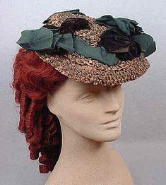 Civil War era (1861-1865) straw hat