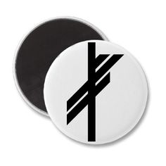 The Viking rune symbol for luck to bring good fortune and success