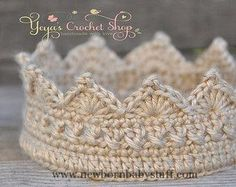 Baby Accessories Gold Baby Crochet Crown Baby Accessories by YeyasCrochetShop...
