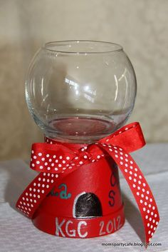Moms' Party Café: End of the year - teacher gifts - Candy Bowl!