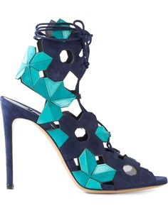 Shop Casadei geometric panel sandals in Russo Capri from the world's best independent boutiques at farfetch.com. Over 1500 brands from 300 boutiques in one website.