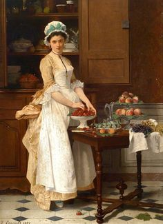 """The Cherry Girl"" (1875) by Joseph Caraud (1821-1905) I received this email recently regarding French Country Kitchens:       Sorry, Ms. Bern but your article on 12 kitchen trends was impossibly   subjective!   The ornate French Country kitchens were spectacular and   there was not a square foot that wasn't visually beautiful.   It's a   matter of taste. The simple ""French Provencal"" …"