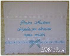 Lembrança para o pastor  Linda toalha de lavabo aveludada