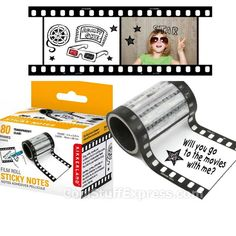 Film Roll Post-It Sticky Notes