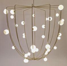 LIGHTING | lindsay adelman | cherry bomb cage ceiling lamp | 2015 salone di mobile | nilufar gallery | milan, italy | photo credit nilufar gallery