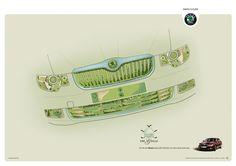 "Skoda Superb ""Golf"" Campaign by Leonard Savage , via Behance"