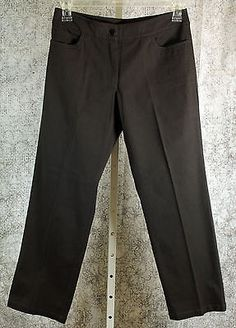 Eileen Fisher Brown Casual Pants Womens Petite Size Small PS