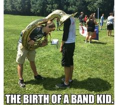 I feel like all orchestra kids are rolling their eyes right now while every band kid is laughing their head off.