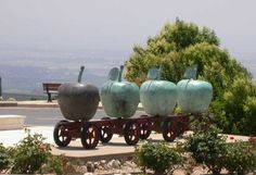 Entrance to the northern Israeli town of Metulla, apple capital of Israel.