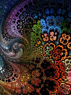 fractal garden print by Amanda Moore