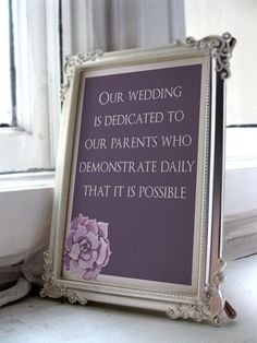 Perfect wedding reception sign dedicated for parents. https://www.etsy.com/ca/listing/270841278/wedding-parent-signwedding-parent?utm_source=Pinterest&utm_medium=PageTools&utm_campaign=Share