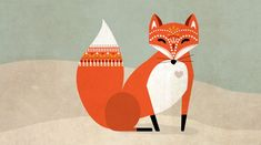 Mr Fox. by: Caroline Johansson #illustration #fox - I Love This! ♥