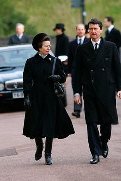 Princess Anne with Timothy Laurence at the funeral of Sir Angus Ogilvy at Windsor in Princess Alexandra, Princess Elizabeth, Queen Elizabeth Ii, Princesa Anne, Royal Navy Officer, Timothy Laurence, Lady Ann, Royal Queen, Queen Pictures