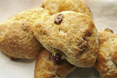 Cranberry and Orange scones. Instead of cranberries and orange, you might try dried apricots and lemon zest, or other flavour combinations of choice ...