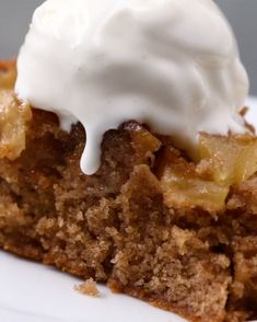 Upside-Down Apple Cake Servings: 10-12 Cake: ¾ cup butter, softened 1½ cup sugar 3 eggs 1 teaspoon vanilla extract ½ cup milk 1½ cup all-purpose flour 1 teaspoon baking powder ¼ teaspoon salt 1 tablespoon cinnamon 4 apples, peeled and cut into ¼-inch slices (recommended: Granny Smith or pink lady) Sauce: 1 cup butter 1 cup brown sugar