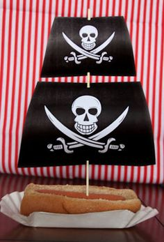 Parties To Die For - Pirate Hotdog ships Mystery Parties, Themed Parties, Party Themes, Party Ideas, Mermaid Birthday, Birthday Fun, Birthday Parties, Pirate Food, Pirate Party