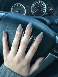 Taupe mate nails, fall fashion