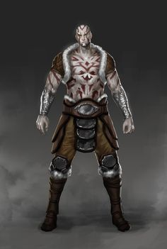 ArtStation - Ohreinn, the Goliath Barbarian, Hans Lim Fantasy Character Design, Character Creation, Character Design Inspiration, Character Concept, Character Art, Dungeons And Dragons Characters, Dnd Characters, Fantasy Characters, Fantasy Races