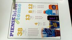 Cafeteria tables @ Ryan Elementary after school program with re-think your drink campaign material.  Site director is Alma Avalos.