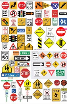 picture regarding Printable Traffic Sign named English coaching worksheets: Street symptoms highway signs and symptoms