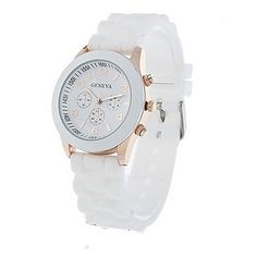cool Unisex Geneva Silicone Jelly Gel Quartz Analog Sports Wrist Watch - For Sale