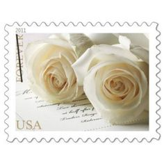 Wedding Roses Sheet of 20 x Forever Postage Stamps