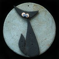 I tondi misurano tutti all'incirca 12 cm di diametro Terracotta, Doodles, The Incredibles, Sculpture, Crafts, Inspiration, Hobbies, Stones, Board