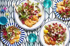 Chicken & Crunchy Salad with Lemon Sauce | Marley Spoon