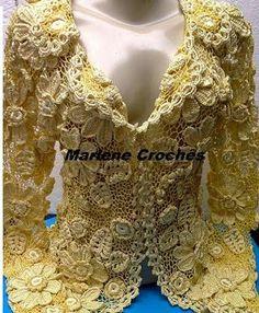 Casaquinho de Renda Irlandesa! | *¤..¤* Croches da Marlene *¤..¤* | Bloglovin'